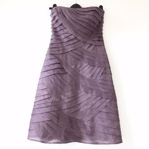 HERVE LERGER 100% Silk Strapless Dress size 6